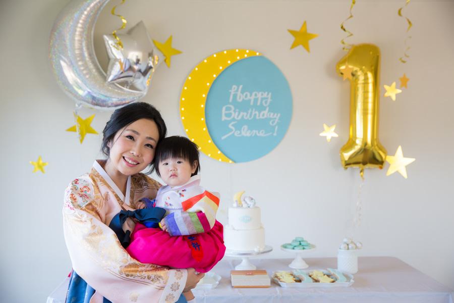 Korean Birthday Party Photographer 1 Year Old