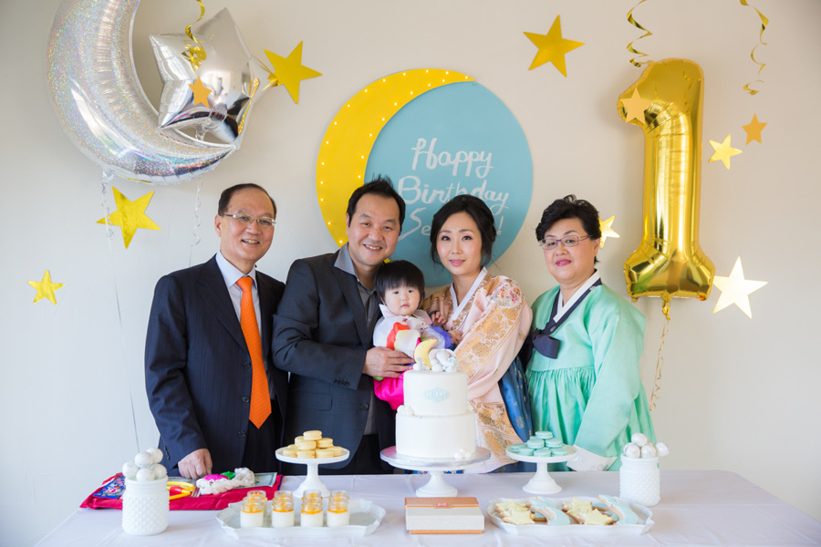 1 Year Old Korean Japanese Birthday Party Photographer